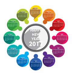 Happy new year 2017 calendar design vector