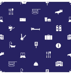 Hotel and motel blue and white pattern eps10 vector