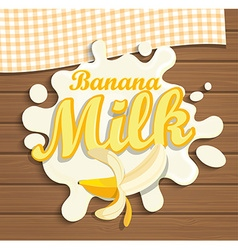 Milk banana splash vector