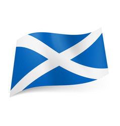 national flag of scotland white cross on blue vector image