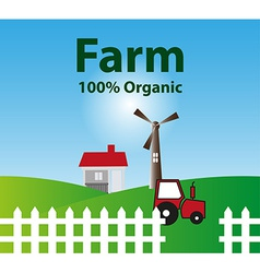 organic farm background vector image vector image