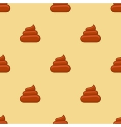 Poo seamless pattern vector