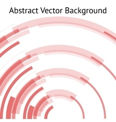 Red abstract arch vector