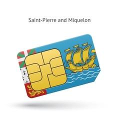Saint-pierre and miquelon mobile phone sim card vector