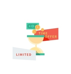 Sale Badge Time Offer Limited vector image vector image