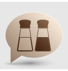 Salt and pepper sign brown gradient icon on vector