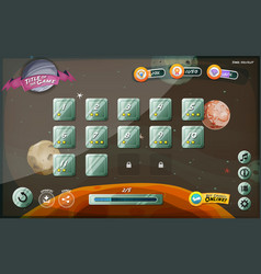 Scifi game user interface design for tablet vector