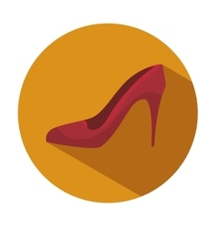 shoe fashion woman isolated icon vector image vector image