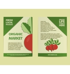 Summer farm fresh poster template or brochure vector