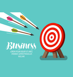 target and flying arrows business concept vector image vector image