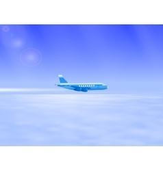 the plane in the sky vector image vector image