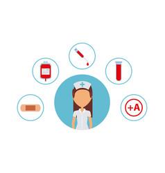 Woman nurse icon vector