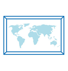 world paper map icon vector image