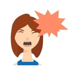 Angry Woman Skream vector image