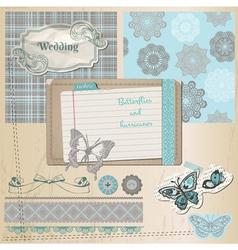 Wedding retro set vector image