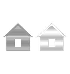 Siding front set icon vector