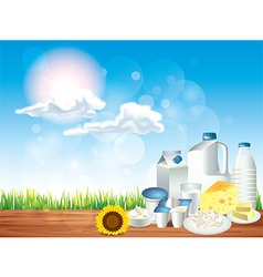 Dairy sunny background vector