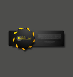 Abstract tech concept web sticker label design vector