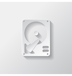 Hard disc icon vector