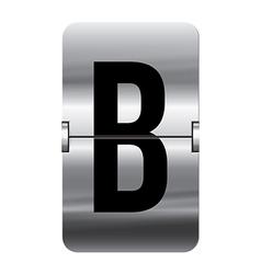 Alphabet silver flipboard letters b vector image