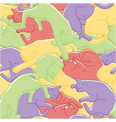 Sleeping cats pattern vector