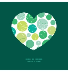 Abstract green circles heart silhouette vector