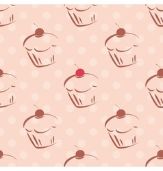 Tile cupcake pattern or background vector
