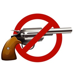 Gun control sign with shotgun vector