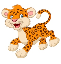 Playful cheetah cartoon vector