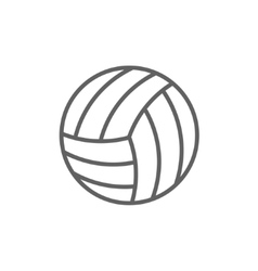 Volleyball ball line icon vector