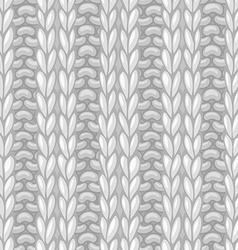 Double ribbing stitch vector