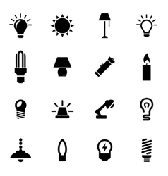 Black light icon set vector