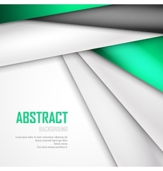 Abstract background of green white and black vector image vector image