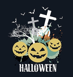 Abstract halloween art vector
