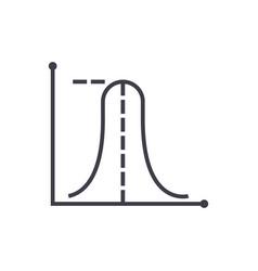 Average maximum graph line icon sign vector