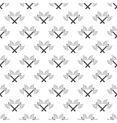 Battle axes seamless pattern vector image vector image