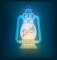 Bible quotes god is light vector