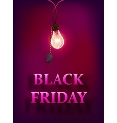 Black friday sale background with lamp vector