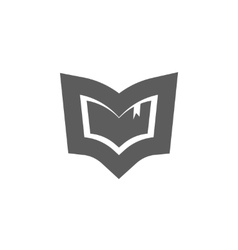 Book logo emblem isolated concept of vector