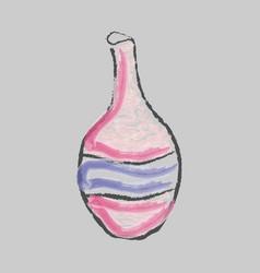 Bottle of wine grey background watercolor vector