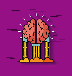 Brain hanging ideas vector