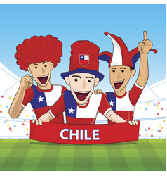 Chile sport fan vector