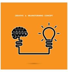 Creative brainstorm concept vector