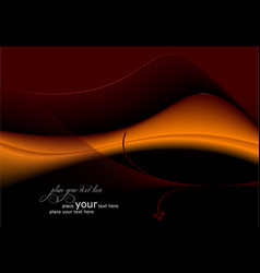 Deep-red-orange abstract wave background vector