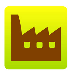 factory sign brown icon at vector image