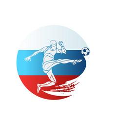 football championship logo flag of russia vector image vector image