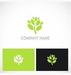 green tree plant nature logo vector image