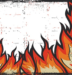 Grunge Fire Frame Background vector image vector image