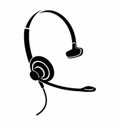 Headphones with microphone icon simple style vector image vector image