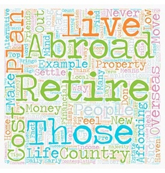 How to plan your retirement abroad text background vector